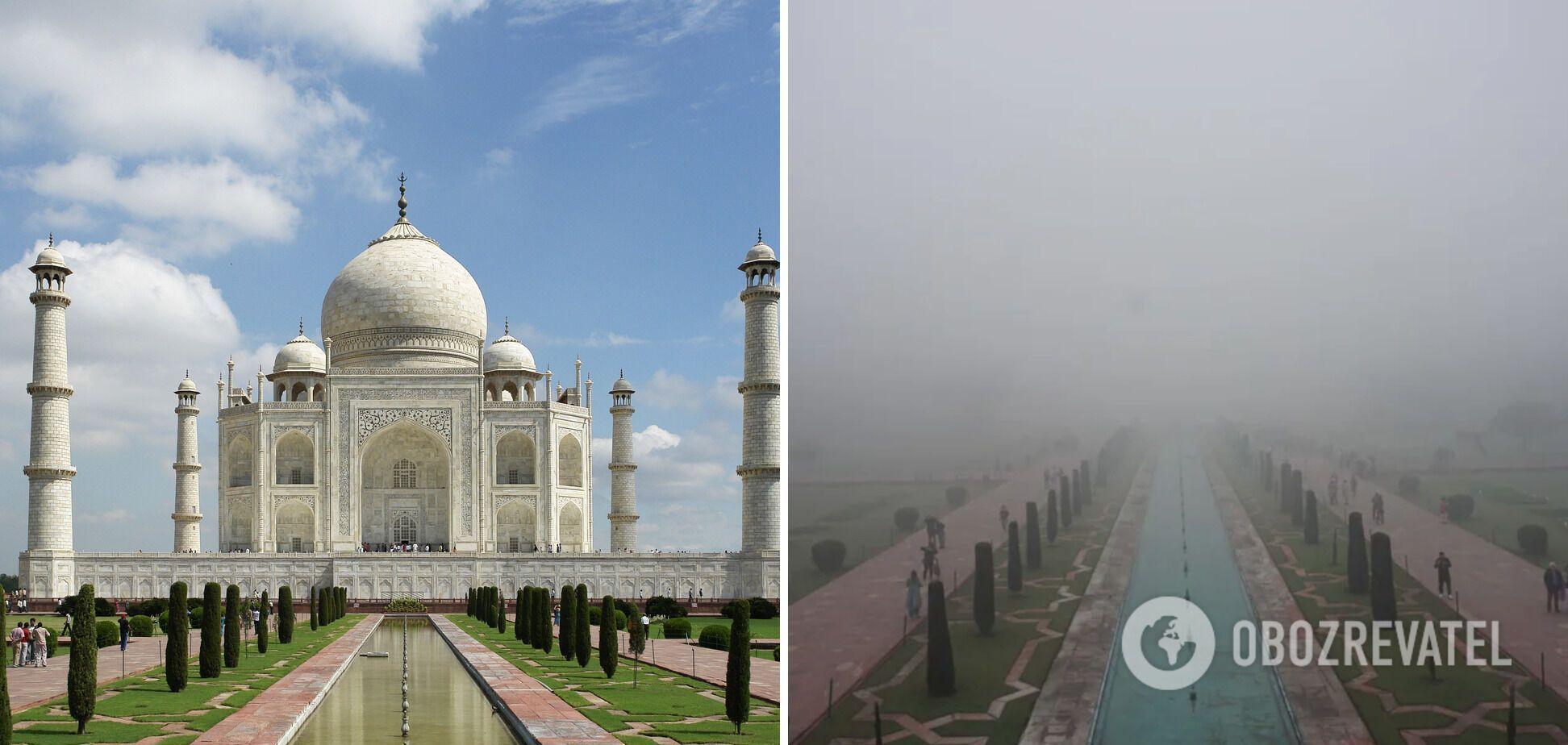 Тадж-Махал заховався в тумані