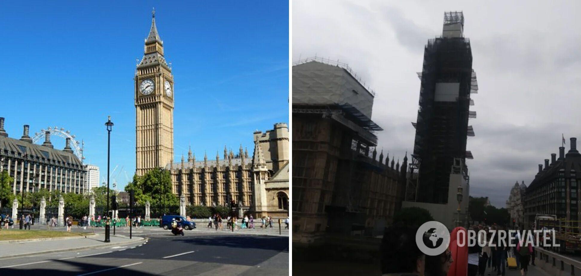 Лондонський годинник перебуває на реставрації
